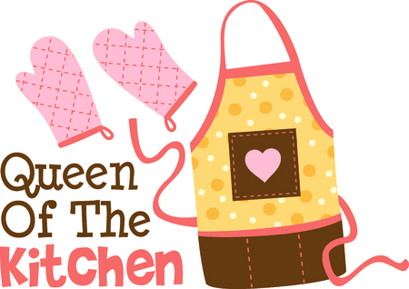 accessory: Homemade cooking is just too good to pass by.  Bring some sweet inspiration to your kitchen with this design! Illustration