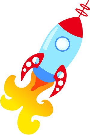 This rocket is a perfect image to add to a design for a child. Stok Fotoğraf - 43682272