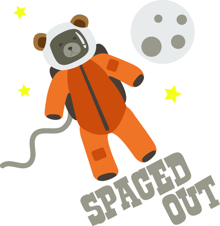 This astronaut is a perfect image to add to a design for a child.