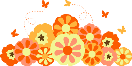 These beautiful flowers and butterflies are a perfect image for your springtime design. Фото со стока - 43682360