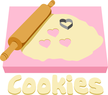 dough: Show your pride for your talent for cookie decorating.  Its the perfect advertisement.  Everyone will love them! Illustration