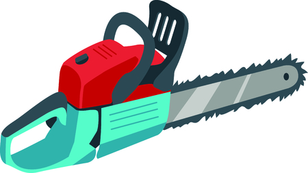 woodcutting: This chainsaw image is the perfect image for your next design.  Perfect for the handyman working on the honeydo list.