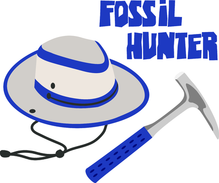 paleontologist: This paleontologist design is a perfect image to add to a design for a science classroom. Illustration