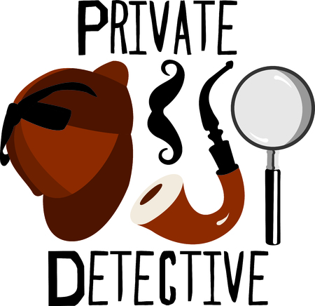 This spy design is a perfect image to add to a design for a science classroom.