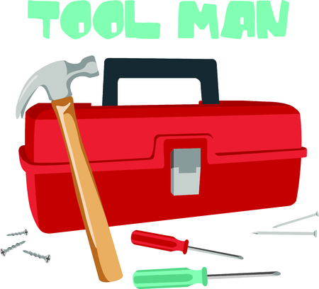 This toolbox image is the perfect image for your next design.  Perfect for the handyman working on the honeydo list. 向量圖像