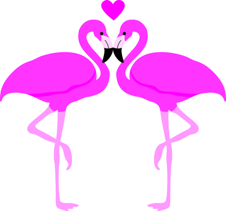 wade: This adorable flamingo says think pink.  Send this happy flamingo to a child.  They will love it! Illustration