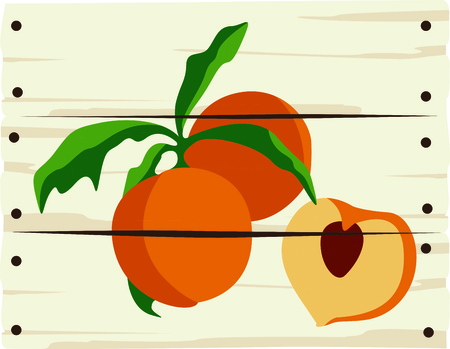 nectarine: A peach sign is a great way to advertise your freshly picked peaches. Illustration