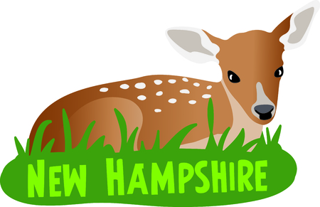 new plant: This sweet fawn is a perfect design for a nursery.
