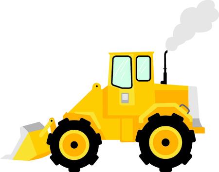 cargador frontal: Esta imagen del tractor es la imagen perfecta para su próximo diseño. Perfecto para el personal de mantenimiento que trabaja en la lista honeydo.