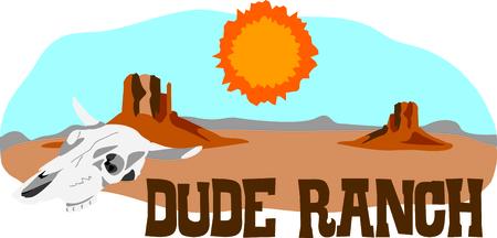 Deze woestijn scène is perfect voor uw Zuidwest ontwerp. Stock Illustratie