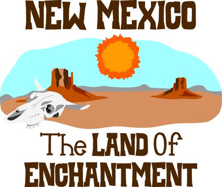 Deze woestijn scène is perfect voor uw Zuidwest ontwerp. Stockfoto - 43682951