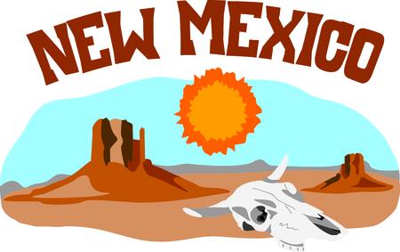 Deze woestijn scène is perfect voor uw Zuidwest ontwerp. Stockfoto - 43682954
