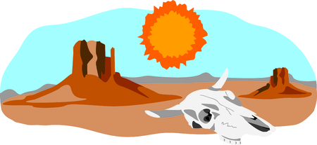 southwest: This desert scene is perfect for your Southwest design. Illustration