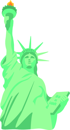 This Statue of Liberty is a perfect image for your New York design.