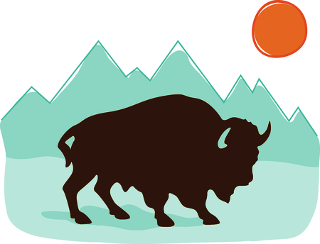 This buffalo is perfect for your Southwest design.