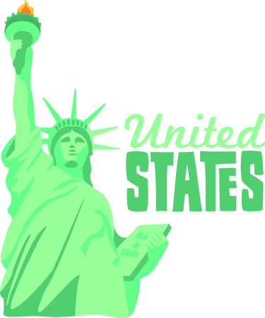 This Statue of Liberty is a perfect image for your New York design. Stock Vector - 43682992