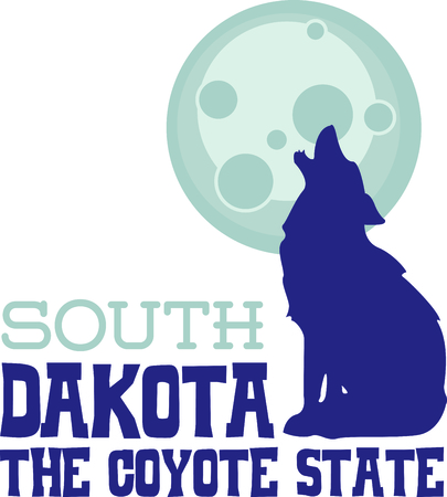 prairie dog: The coyote howling at the moon is the perfect image for a design for a boy.  They will love it!
