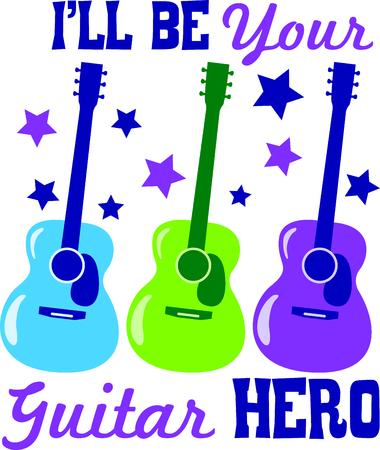 私のギター、このデザインで空をキスしながらすみません。