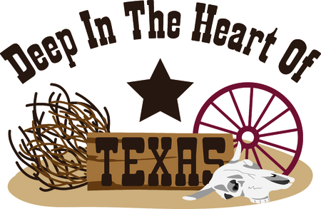 texan: This design represents the Lone Star State.  It makes a perfect gift for a Texan!