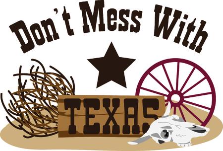 Dit ontwerp vertegenwoordigt de Lone Star State. Het maakt een perfecte gift voor een Texaanse! Stock Illustratie