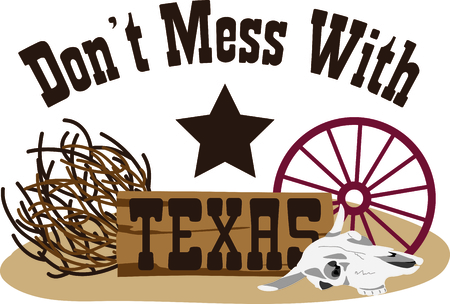 wagon wheel: This design represents the Lone Star State.  It makes a perfect gift for a Texan!