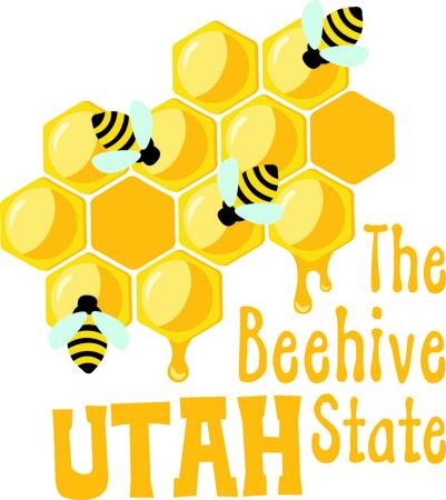 Les abeilles font le miel délicieux. Que Cette image est parfaite printemps pour votre prochain design. Banque d'images - 43683004