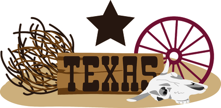 This design represents the Lone Star State.  It makes a perfect gift for a Texan!