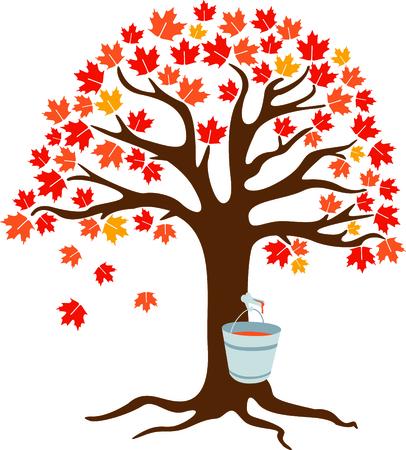 おいしいシロップ メープルを収集します。 この秋のイメージは、あなたの次のデザインに最適です。