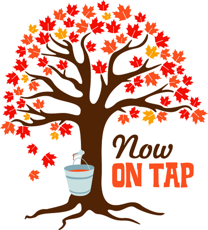 Collecting maple for delicious syrup.  This fall image is perfect for your next design.