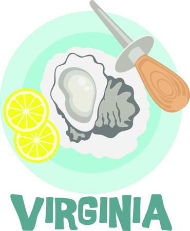 Virginia ist für wunderbare Austern bekannt. Dieses Bild ist perfekt für Ihr nächstes Design. Standard-Bild - 43683063