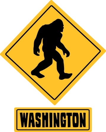 legends: When traveling and hiking in Washington, keep your eyes open for Sasquatch.