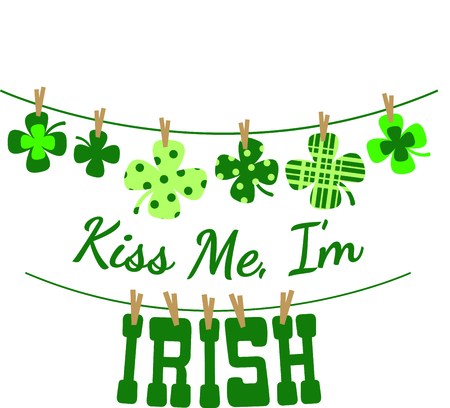 hung: Enjoy St. Patricks Day with your Irish shamrock clothesline.  Dont forget to add this image to your design!
