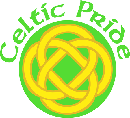 irish pride: Celebrate your heritage with this Celtic knot. Illustration