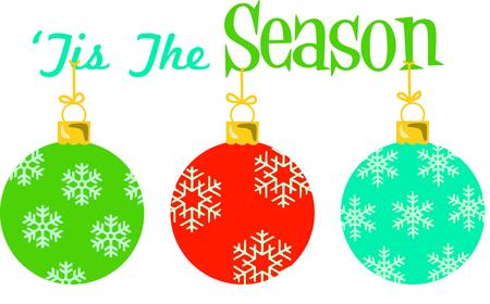 beautiful Christmas ornaments. Illustration