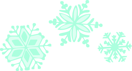 ice crystal: This beautiful snowflake is a perfect design for this winter.