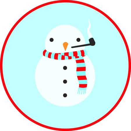 雪だるま。  イラスト・ベクター素材