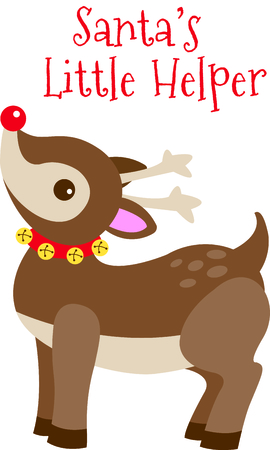 rudolph: Send holiday Christmas cheers with this adorable Rudolph.