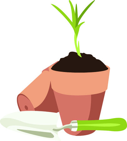 saplings: Gardening is a fun hobby.  Use this design to put on a gift for a gardener.  They will love it.