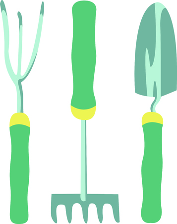 hand shovels: Gardening is a fun hobby.  Use this design to put on a gift for a gardener.  They will love it.