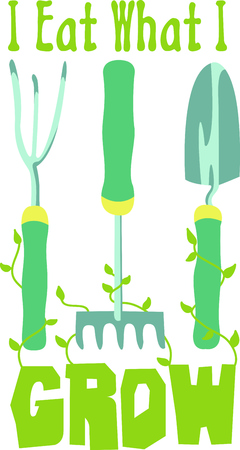 cultivator: Gardening is a fun hobby.  Use this design to put on a gift for a gardener.  They will love it.
