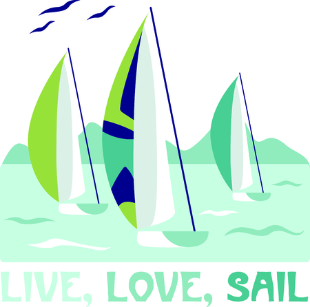 spinnaker: Vacationing at the bay is lots of fun.  Take this sailboat design to remember it always.