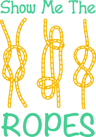 Vacationing at the bay is lots of fun.  Add this knots image to your design. Ilustração
