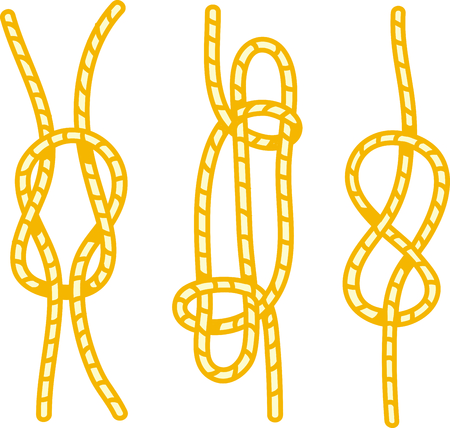 Vacationing at the bay is lots of fun.  Add this knots image to your design. 向量圖像