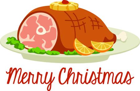 みんなはクリスマス ディナーを楽しみにしています。 このイメージは、あなたの次のデザインに最適になります。  イラスト・ベクター素材