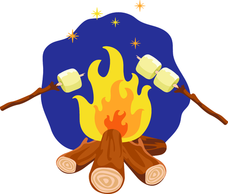 flaring: Camping is a fun activity to get away from the electronics and enjoy the outdoors.  Use this campfire image with your design.