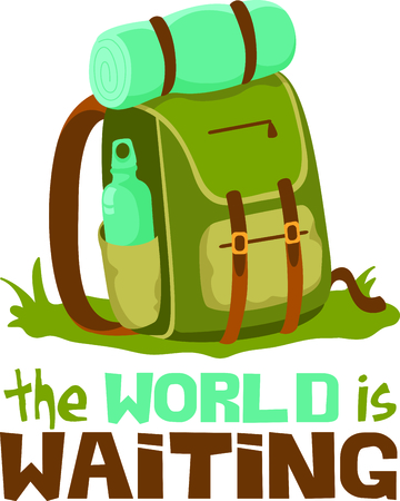 rucksacks: Camping is a fun activity to get away from the electronics and enjoy the outdoors.  Use this backpack image with your design.