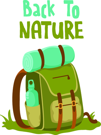cantine: Camping is a fun activity to get away from the electronics and enjoy the outdoors.  Use this backpack image with your design.
