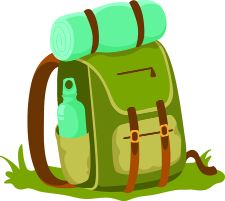 knapsack: Camping is a fun activity to get away from the electronics and enjoy the outdoors.  Use this backpack image with your design.