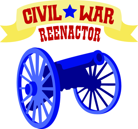 reenacting: Reenacting is an important part of teaching others about history. This cannon is perfect to add to a shirt while you are traveling.