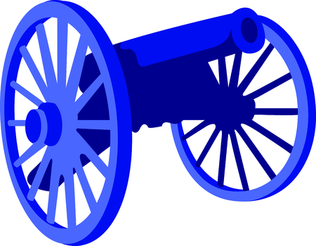Reenacting is an important part of teaching others about history. This cannon is perfect to add to a shirt while you are traveling.